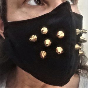 Last One! SPIKED punk black face mask NONMEDICAL
